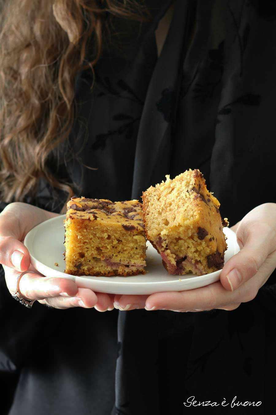 Torta senza glutine senza lattosio fragole e cioccolato