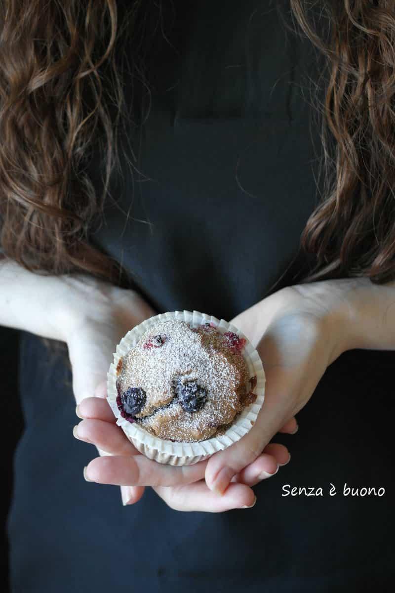 Muffin ai frutti di bosco per celiaci e intolleranti