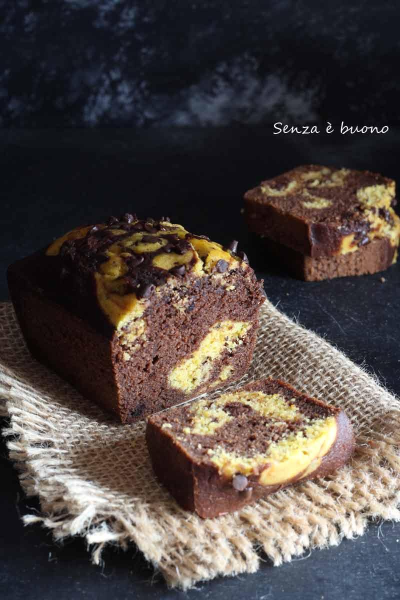 Plumcake con agave zucca e cioccolato