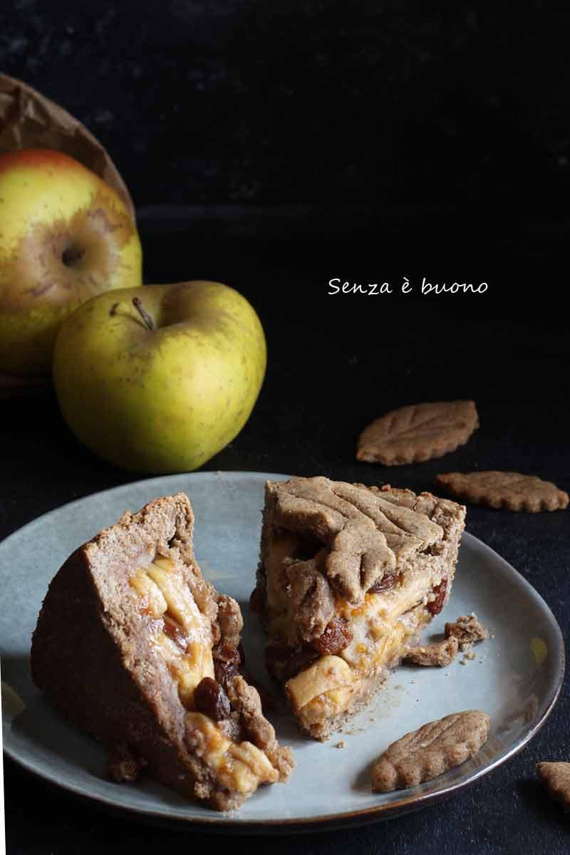 Crostata senza glutine vegan con mele e cannella