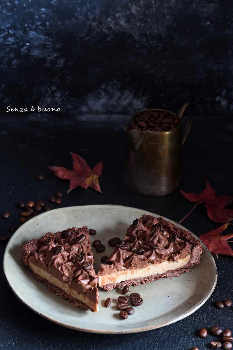 Crostata caffè e cioccolato senza glutine vegan