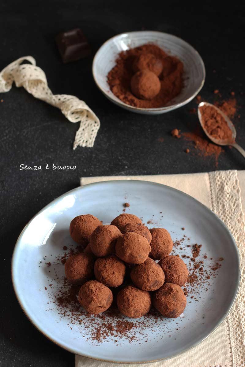 tartufini al cioccolato calza befana