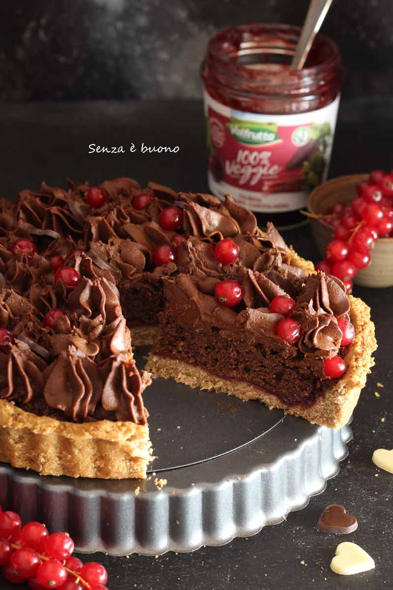 Crostata frangipane al cioccoalto senza glutine vegan