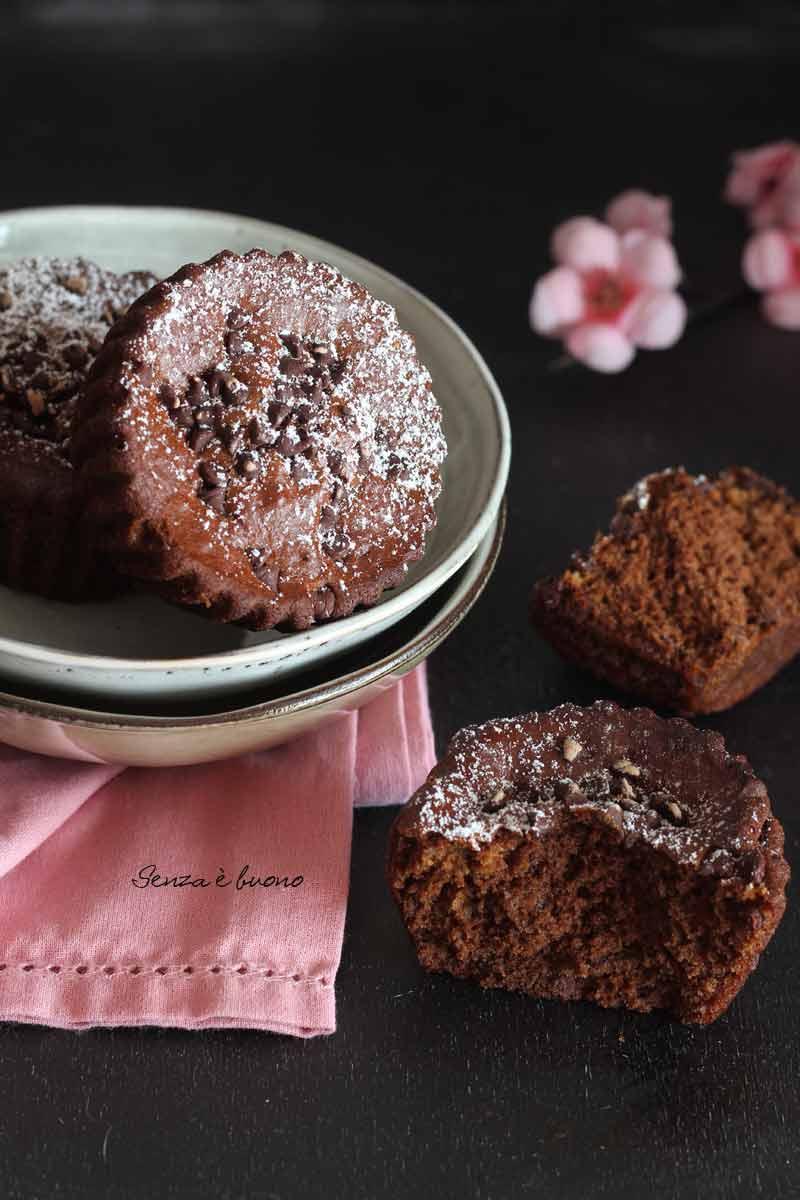 ricetta tortine al doppio cioccolato senza glutine