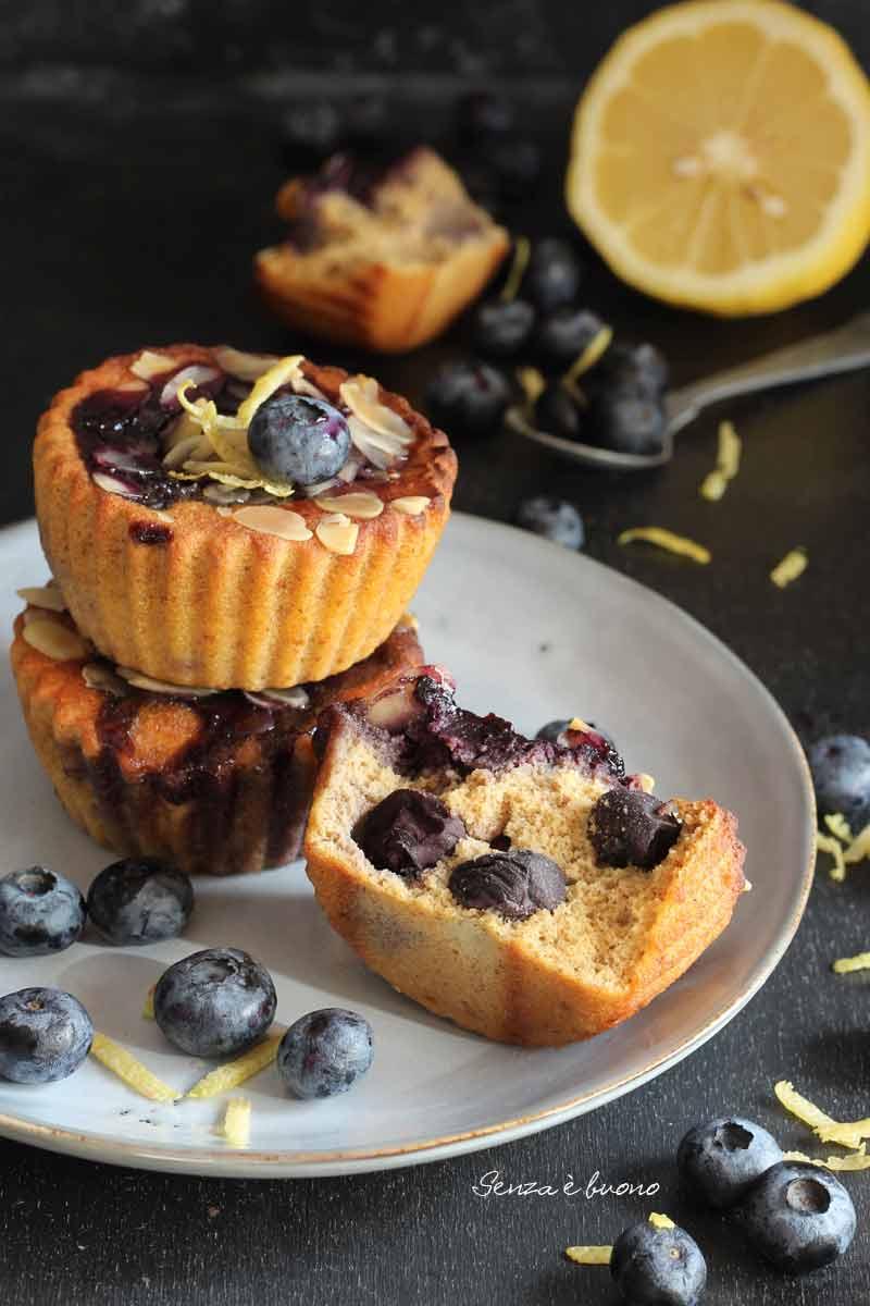 dolcetti senza farina ai mirtilli senza glutine