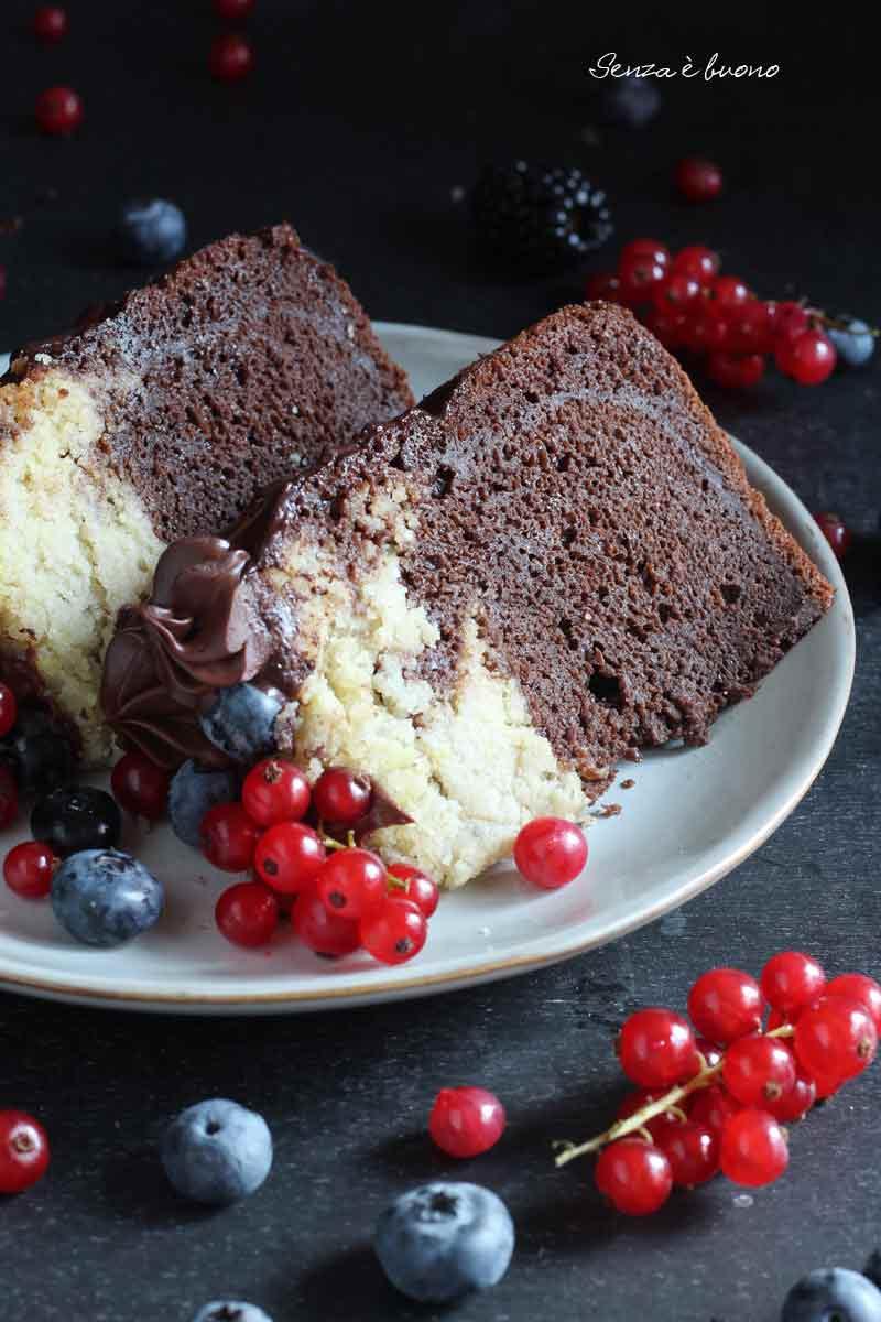 torta soffice bicolore senza glutine