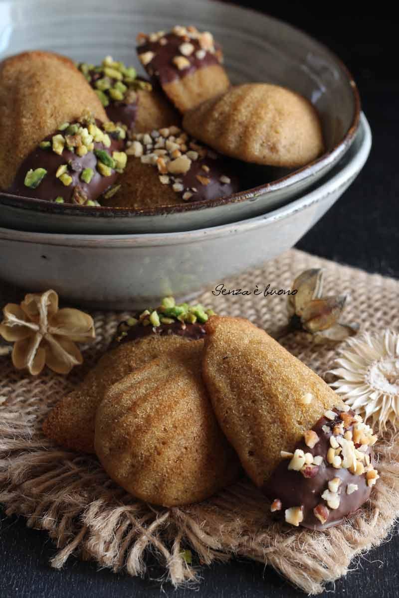 ricetta madeleine senza glutine con farine naturali e senza lattosio