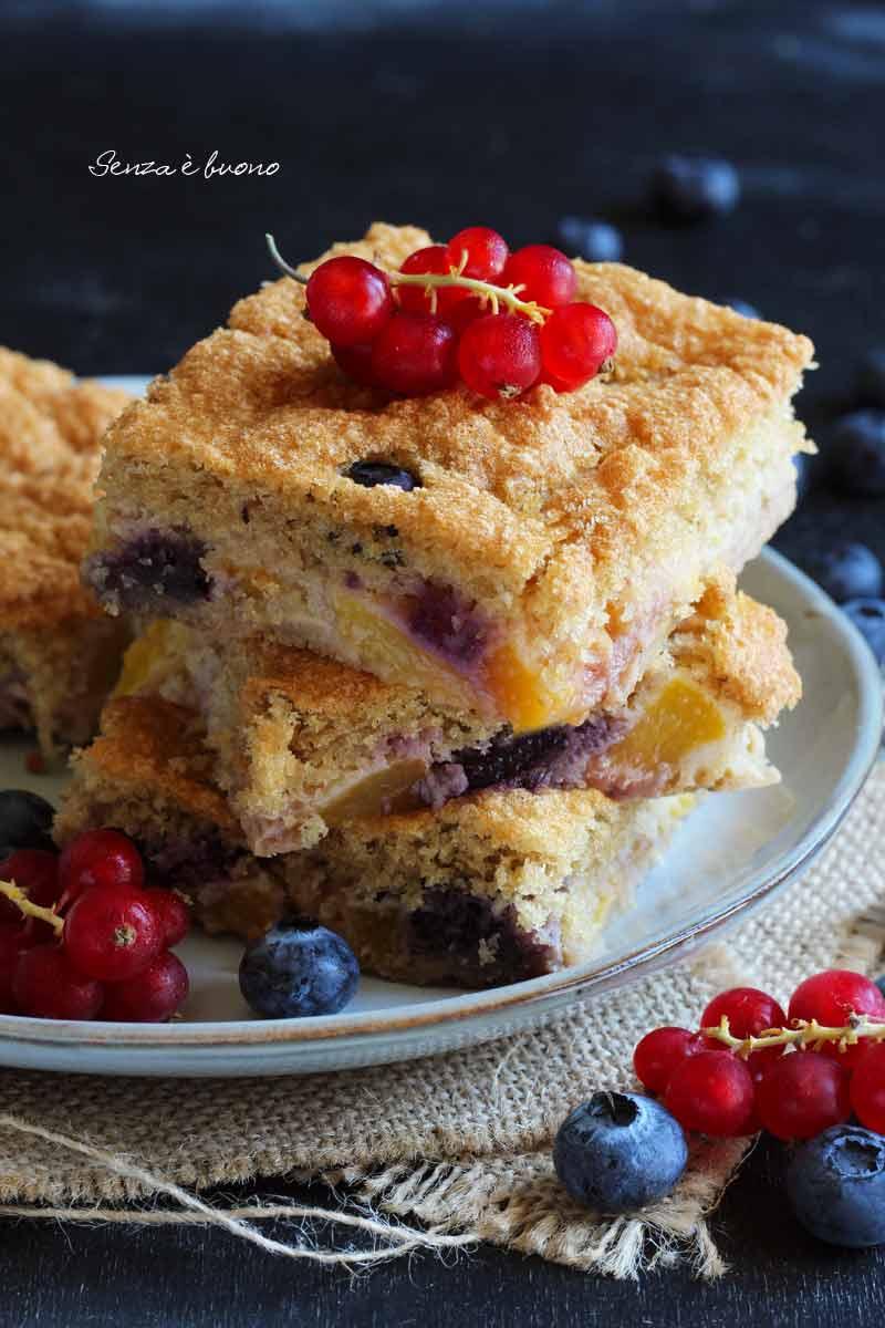 dolce per la colazione senza glutine con farine naturali
