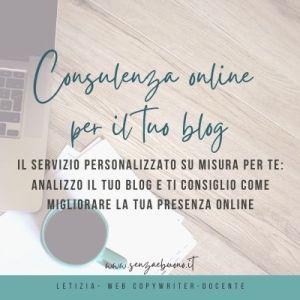 consulenza blog