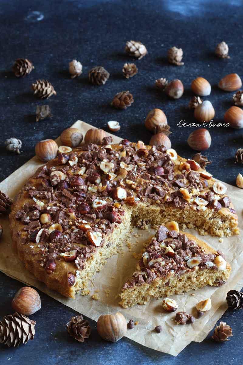 torta cookie con farine naturali senza glutine senza burro