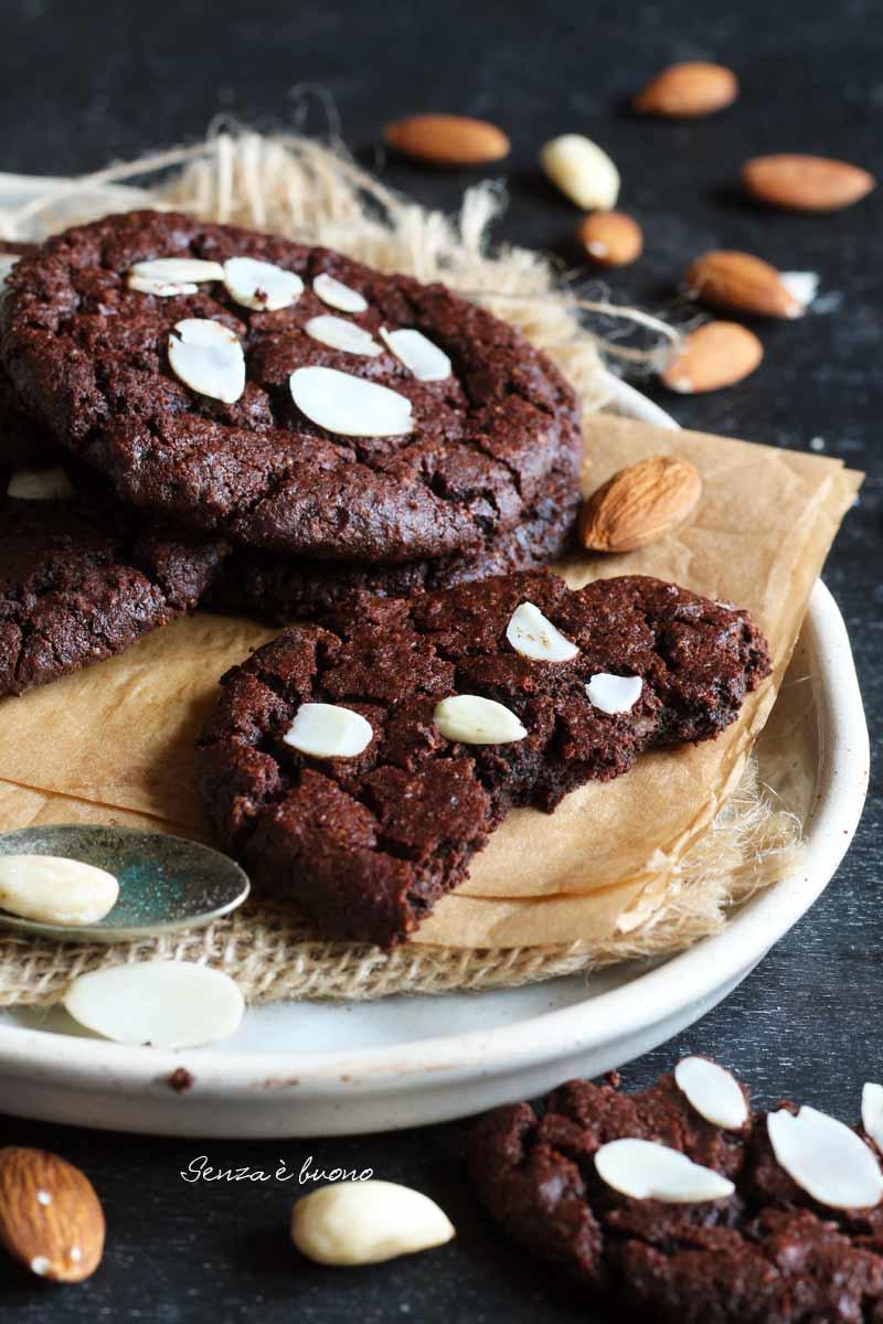 cookies senza glutine al cioccolato ricetta vegan