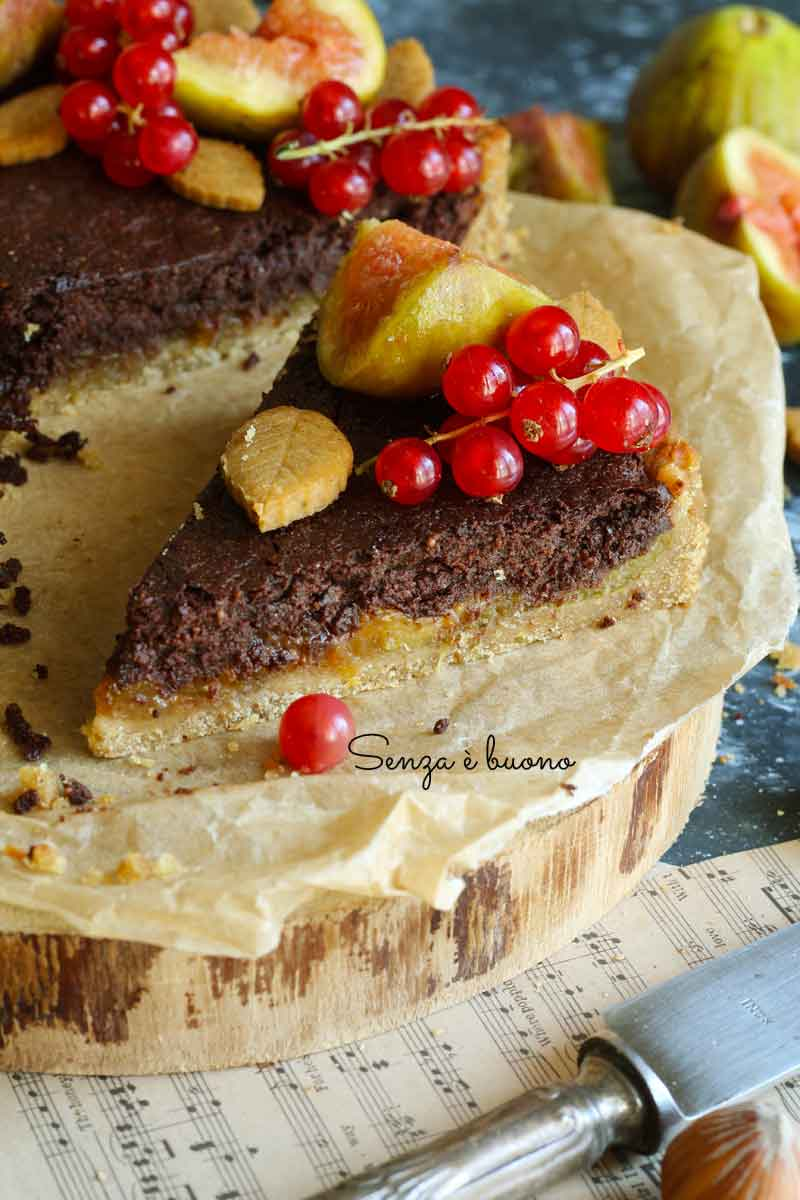 Crostata fichi e cioccolato senza glutine