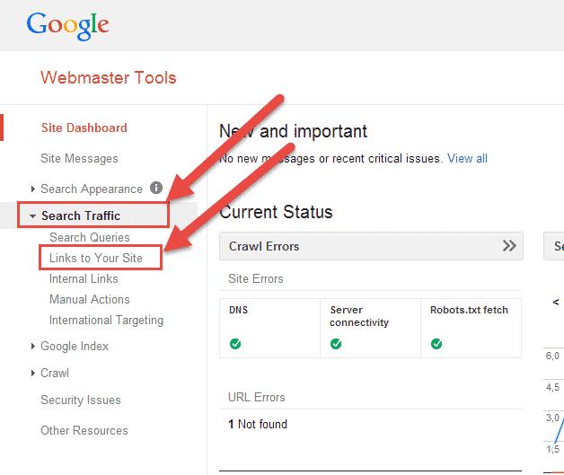 إضهار الروابط الخلفية من أدوات مشرفي مواقع جوجل