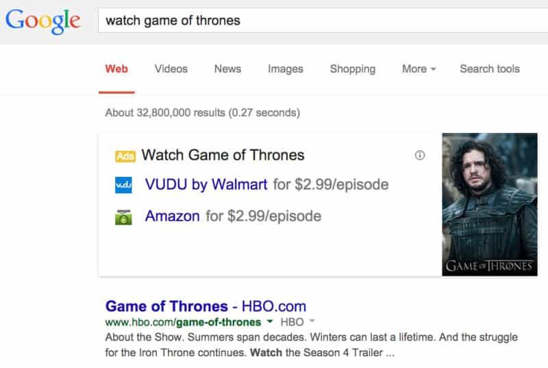 نظام إعلان جديد في بحث جوجل