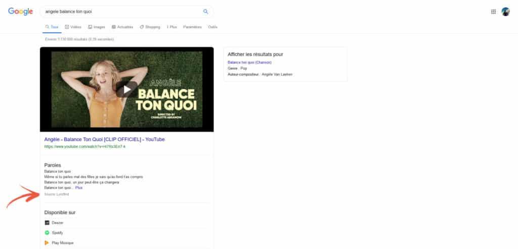 جوجل ستظهر المصدر الأصلي لكلمات الأغاني على نتائج بحثها