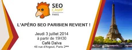 Apéro SEO Camp Paris, le 3 juillet au Café Dalva