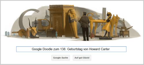 Google Doodle für Howard Carter