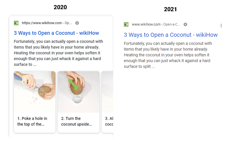 wikihow lost rich snippets