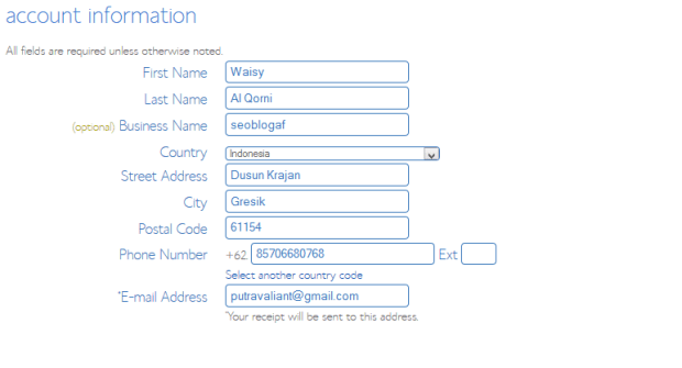 kotak registrasi bluehost