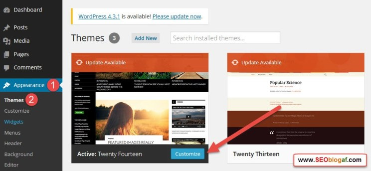 Cara Mudah Kustomisasi/ Modifikasi Theme WordPress