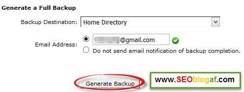 generate backup untuk download