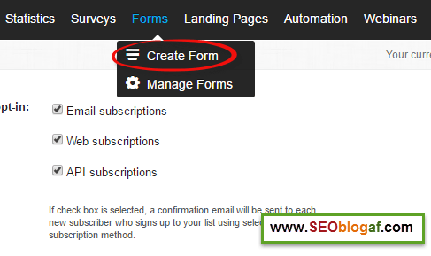 Membuat optin form autoresponder getresponse