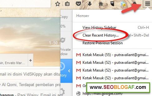 Cara Menghapus Cache Browser Mozilla Firefox