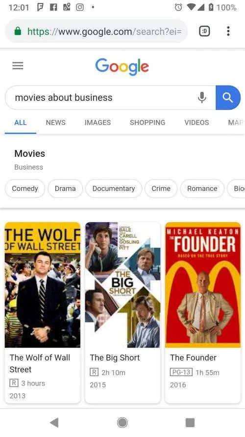 Movies about Business