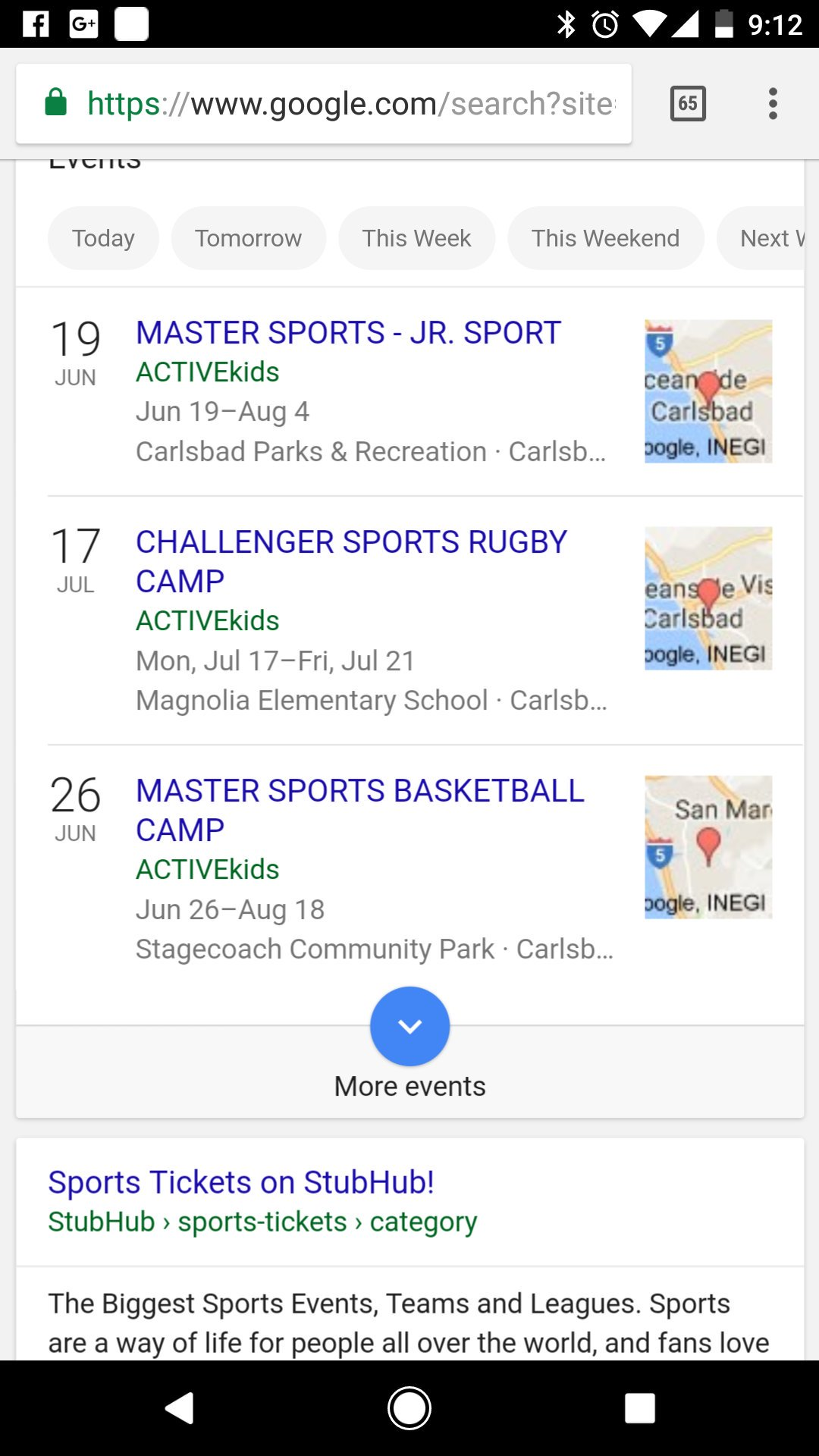 sports events near me