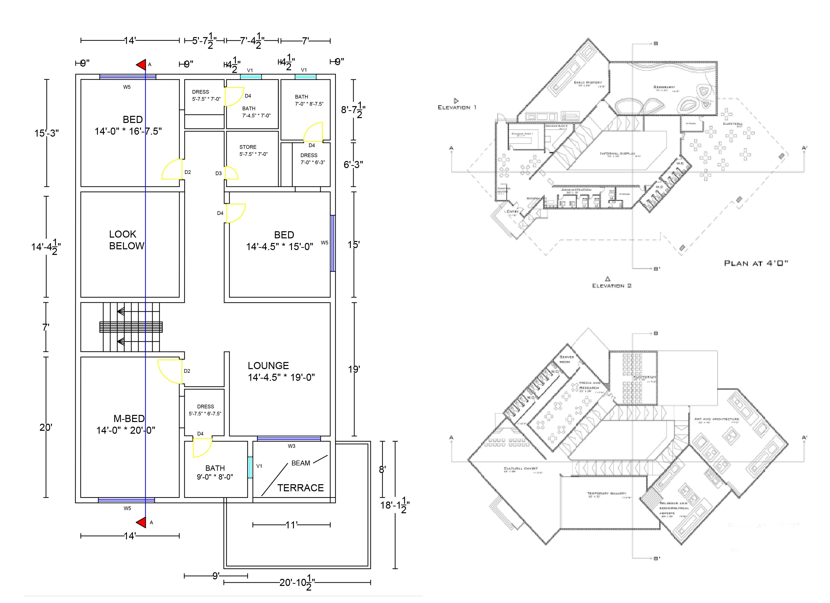Architecture Plans Sections Blueprints 2d 3d By Autocad