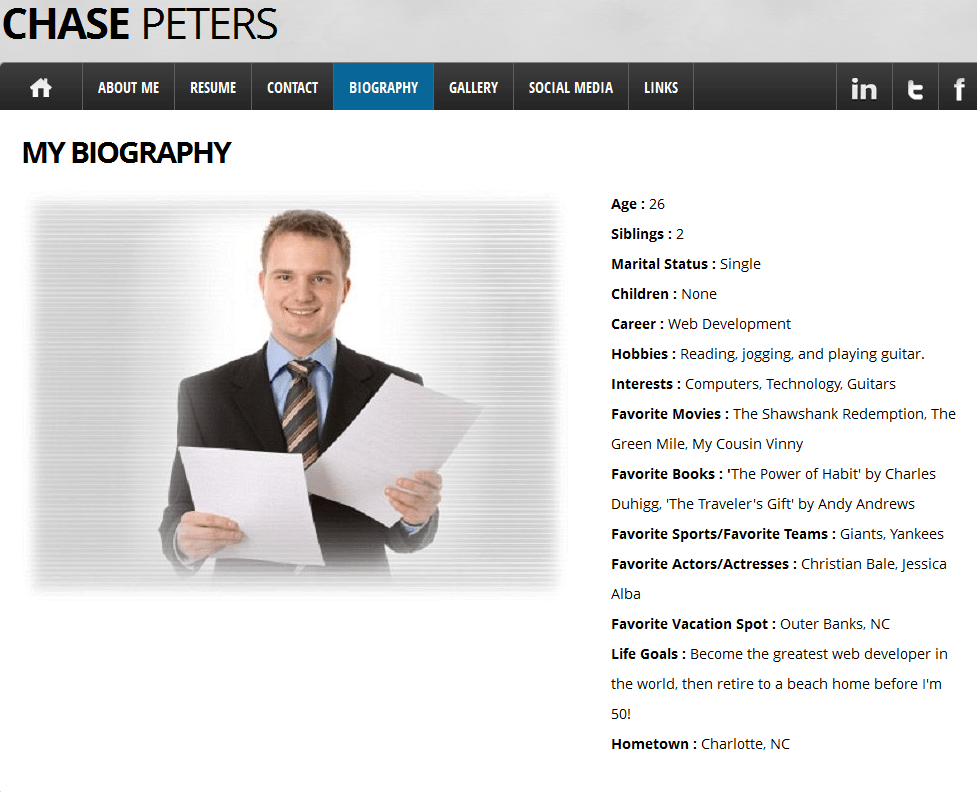 Personal Website Resume Examples - Examples of Resumes