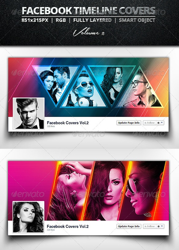 facebook banner collage template