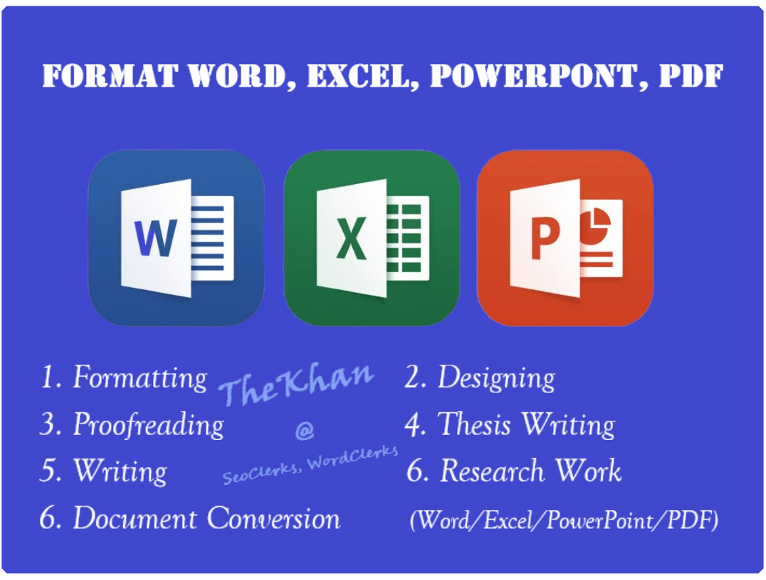 Writing And Formatting Word Excel Powerpoint Document