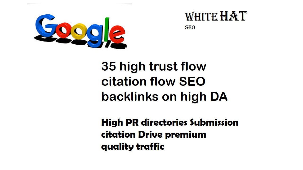 create 35, Backlinks, from high Da Tf Cf site for $12