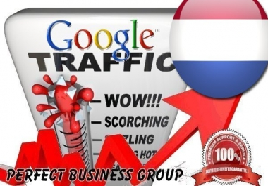 Organic traffic from Google.nl (Netherlands) with your Keyword
