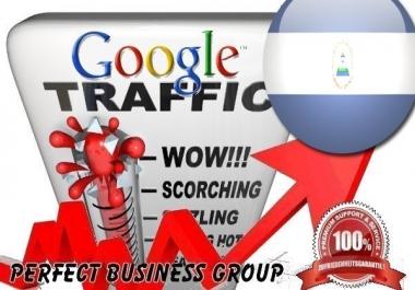 Organic traffic from Google.com.ni (Nicaragua)