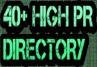 40+ High PR Directory