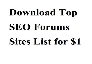 Download Top SEO Forums Sites List