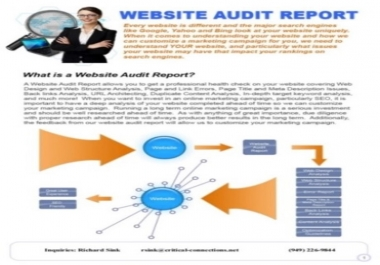 i Will SEO Website Audit in 1 Hour Only with Reports