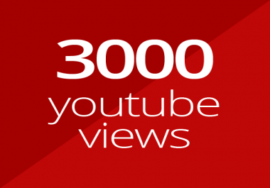 3000 high quality YouTube views