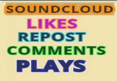 Soundcloud 100 Likes-Favorites Or 100 Repost Or 100 Followers  within 24 hours