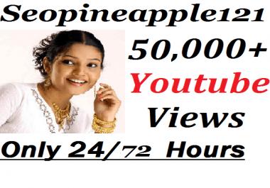 Add 50,000+ HR YouTube Vi-e w-s + 500 Extra Bonus YouTube Li kes Real And Non Drop