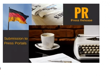 write and publish your German press release