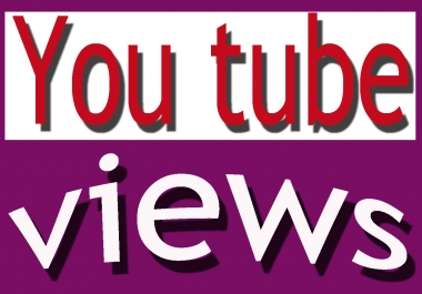 Add 100000+ non drop guarantee you ....tube video views with in 12-15 days