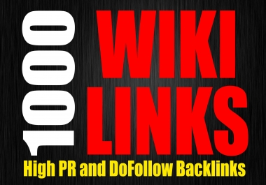 I will create 1000 Wiki Backlinks for your websites, DA50- Tons of Link Juice