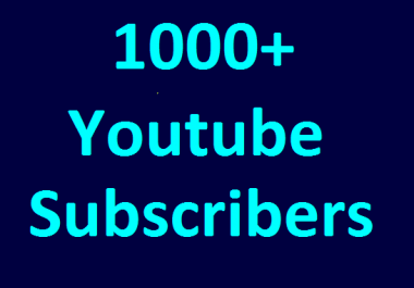Instant start 1000+ YouTube Chanel subs cribers non drop guaranteed very fast completed