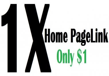 1X  Dofollow Backlink at Homepage Get High Alexa Rank Google Rank