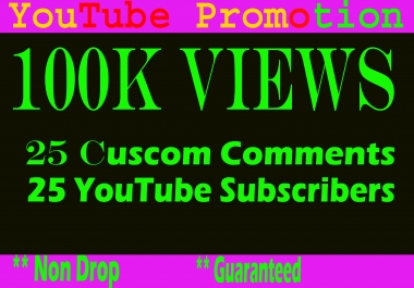 Guaranteed 50 Custom comments and 50 Subscribers