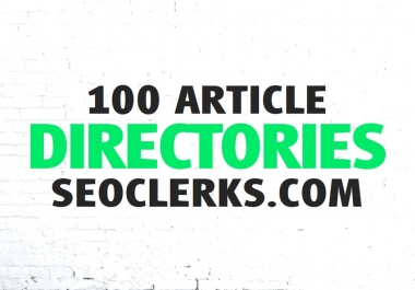 Create 100 Article Directories Backlinks