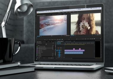 short video editing for youtube etc.